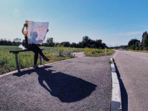 Baltiassa pyöräillen, kartan lukua